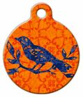 INDIAN BIRD BATIK - Custom Personalized Pet ID Tag for Dog and Cat Collars
