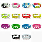 1pcs wristbands silicone Bracelets for shoe charms 14colors 2size party favor