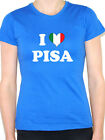 I LOVE PISA - Italian / Italy / Tuscany / Europe /Novelty Themed Womens T-Shirt