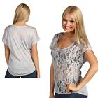 Victoria 5 Pack Scoop Neck Front Lace Floral High-Low Top in 4 Sizes