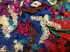 Collection MINI APPLIQUES 12pcs DOLLS Hand Sewn Sequins SCRAPBOOKING