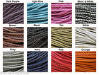 3mm Braided Faux Leather Cord - Choose Color & Length