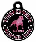 ZOMBIE RESPONSE K9 UNIT PINK - Custom Personalized Pet ID Tag for Dog Collars