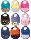 Silly Billyz Toweling Pocket Bibs With Secure Snap 3 Mo - 3 Yrs Super Absorbant