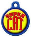 SUPER CAT - Custom Personalized Pet ID Tag for Dog and Cat Collars