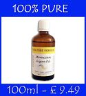 100% PURE ORGANIC Moroccan Argan Oil Treatment for hair and skin 100ml / 3.4 oz