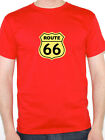 ROUTE 66 - America / Will Rogers Highway / USA / Novelty Themed Mens T-Shirt