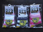 New Spongebob Girls  Cotton Socks x 3 Pairs 3-7 Years