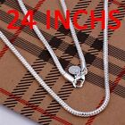 Promoting sale free shipping solid silver 3mm snake chain necklace for XMAS gift