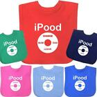iPood Bibs Baby Feeding Funny Cute Cool Boys Girls Gift - 100% Cotton - Velcro
