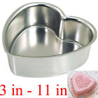 7 Sizes Heart Muffin Aluminum Cake Pan Tin Birthday Decorating Mold Baking Tool