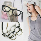 New Womens Vintage Retro Girls Glasses Style Long Chain Necklace Jewellery Gift