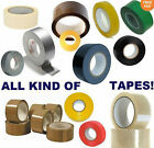 PACKING TAPE CLEAR BROWN MASKING FRAGILE GAFFER GAFFA PARCEL 66m/50m MULTI-LIST