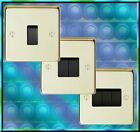 1 2 or 3 GANG POLISHED BRASS LIGHT SWITCH. MONEY BACK GUARANTEE. RANGE TO MATCH