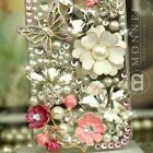 S09 Luxury Bling Crystal Faux Pearl Flower fit iPhone 4 / 4S / 5 Case Cover