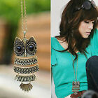 Vintage Womens Girls Lovely Owl Charming Pendant Long Necklace Decorating Chain