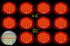 GU10 Red 44 LED Light Bulbs Energy Efficient Wide Angle Lamp 110/220 3W 1-12 pcs