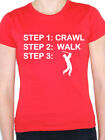 CRAWL WALK GOLF - Sport / Golfing / Ball / Caddy / Fun Themed Womens T-Shirt