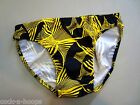 CLASSIC Style Black/Yellow Bikini Brief Men's Swimsuit - Handmade in the USA