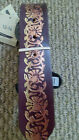 NEW REAL LEATHER LADIES BELTS EMBROSSED GOLD PATTERN SIZES 8-10 12-14
