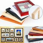Wood Wooden photo Frame Square Size Picture Frames Stand /Wall Hang Home Decor
