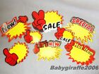 Store Market Stall Retail Promotion Tag Price Label POP Various Designs & Sizes