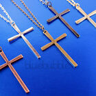 FUNKY LARGE 6cm CROSS CHAIN NECKLACE RELIGIOUS PUNK GOTH GIRL BOHO ROCK CHICK UK