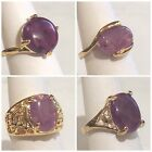 Size 7 or 8 - Women's - Amethyst - Gold Plated Rings - U86