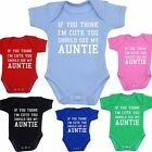 BabyPrem Baby Clothes Cute Auntie Aunty Bodysuit Vest Girls Boys Funny Slogan