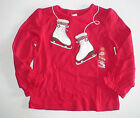 NWT GYMBOREE WINTER CHEER RED ICE SKATING SKATES TOP SHIRT CHRISTMAS XMAS