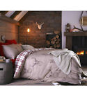 stag single double king duvet cover set reversible check beige red cotton rich