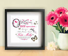 Personalised Name New Baby Gifts Baby Girl Wall Art Print Once Upon a Time Quote