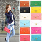 10 color Women's Korea Style PU leather Clutch Handbag Bag Totes Hobo Purse