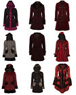A/W 2014 JACKET COAT VICTORIAN MILITARY STEAMPUNK GOTHIC ARMY BLACK POLKA DOT