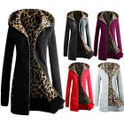 New Ladies Zipper Jumper Hoodies Long Trench Tops Hooded Coat Jacket Hoody 8-16