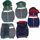 New TRENDY Warm Lined Boys Body Warmer/ Padded Gilet/ Waistcoat Removable Hood