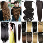 UK Salon 25% Off 28+ Shade  **  Clip In Hair Extensions Ponytail Free Shipping