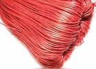 Red waxed cotton cord/thong/string 1.5 mm beading thread jewelry making findings