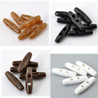 20 PCs Resin Toggle Buttons Sewing 2 Holes 4cmx1.1cm M1515