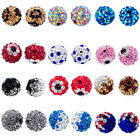 "Pave Rhinestone Ball Beads 10mm( 3/8"") M1117"
