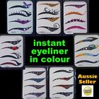 Temporary COLOURED Eyeliner Stickers 4 pairs ★Eye makeup instant tattoo