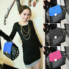 Celebrity Womens Shoulder Messenger Handbag Rivet Studded Shoppers Tote Purse US