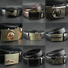 Mens Business Automatic Buckle Genuine Leather Waist Strap Belts Black Styles