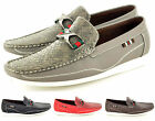New Mens Two Tone Designer Loafers Moccasins Slip on Shoes Avail. UK Sizes 7-11