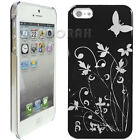 FLOWER BUTTERFLY Hard Case Cover for Apple iPhone 3G 3GS 4 4S 5 Samsung S3 i9300