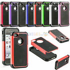 2in1 Hybrid Robot Shockproof Rubber TUFF Rugged Hard Case Cover For iPhone 4