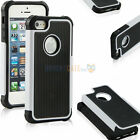 2in1 Hybrid Robot Shockproof Rubber TUFF Rugged Hard Case Cover For iPhone 5 5S