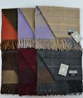 RRP £135.100% Scottish Cashmere double face/sided /reversible Check Plaid Scarf