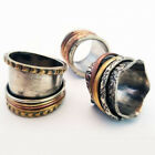 Refael Collection Handmade Multicolored Meditation Spinner Rings