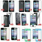 6 pics New HD Clear LCD Screen Protector Cover Guard For Apple iPhone 5/5C